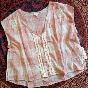 Shyanne Blush/Ivory Embroidered Lace Top